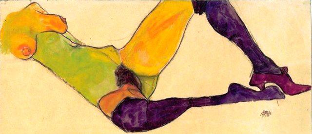 Egon Schiele ⋯ Nudo femminile