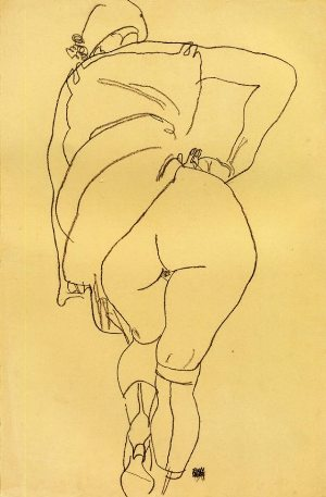 Egon Schiele  ⋯ Semi Nude, Back View