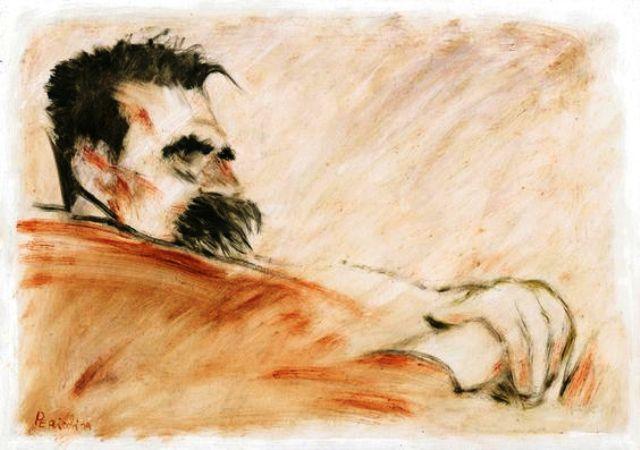 Tullio Pericoli ⋯ Friedrich Nietzsche