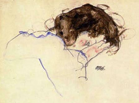 Egon Schiele ⋯ Sleeping girl