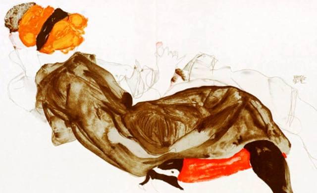 Egon Schiele ⋯ Recicling couple