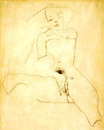Egon Schiele ⋯Seated Female Nude