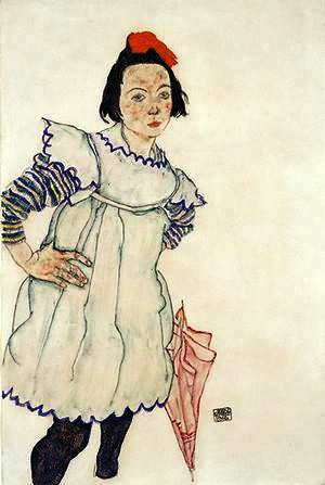 Egon Schiele ⋯ Girl with Umbrella