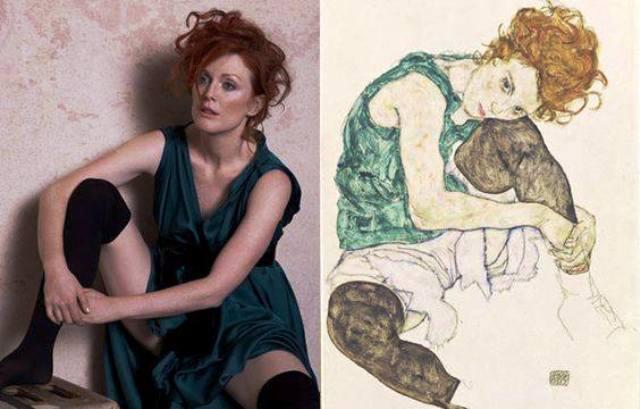 Egon Schiele ⋯ Julianne Moore
