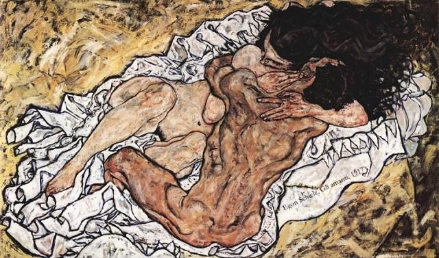 Egon Schiele ⋯ Gli amanti