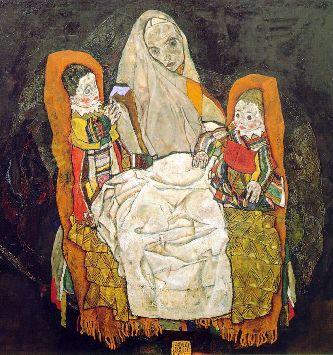 Moeder met kindereng