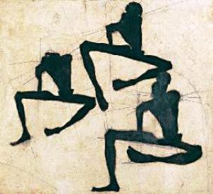 Egon Schiele ⋯ Three male nudes